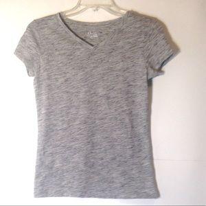 Cherokee Youth Short Sleeve V-Neck T-Shirt L 10-12